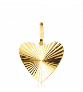 Gold Attraction hearts yellow pendant