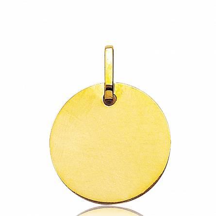Gold Eduard circular pendant