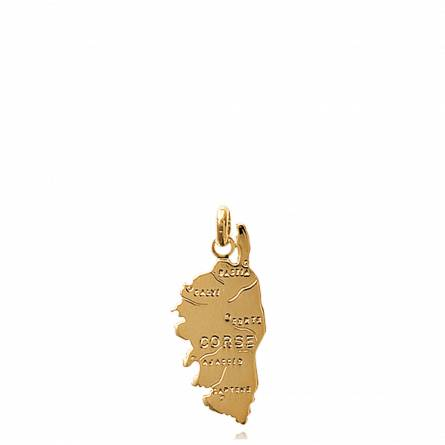 Gold plated countries pendant