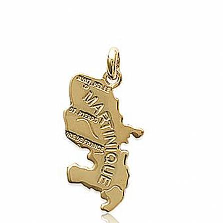 Gold plated countries yellow pendant