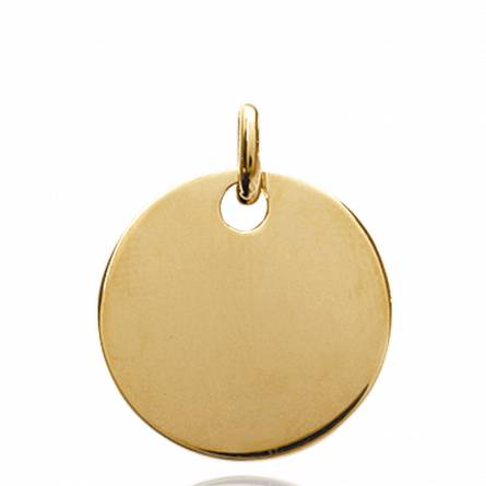 Gold plated Crystin circular pendant