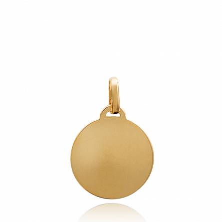 Gold plated Ecu Liège circular pendant
