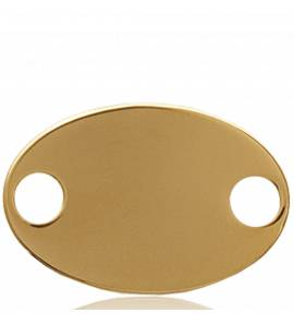 Gold plated Inscription  rounded pendant