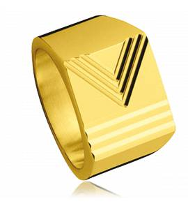 Gold plated Vectorielle ring