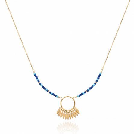 Halsketten frauen goldplattiert Abélia rund