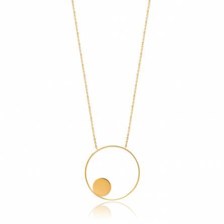 Halsketten frauen goldplattiert Harmonie rund