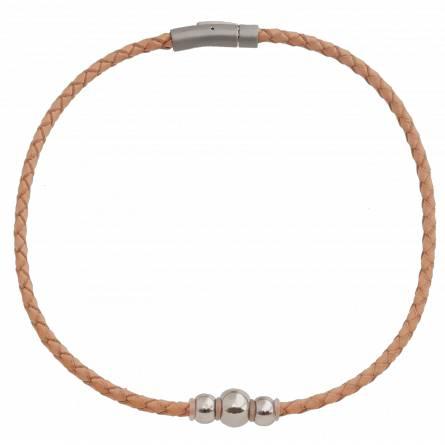 Halsketten frauen leder Floriane beige