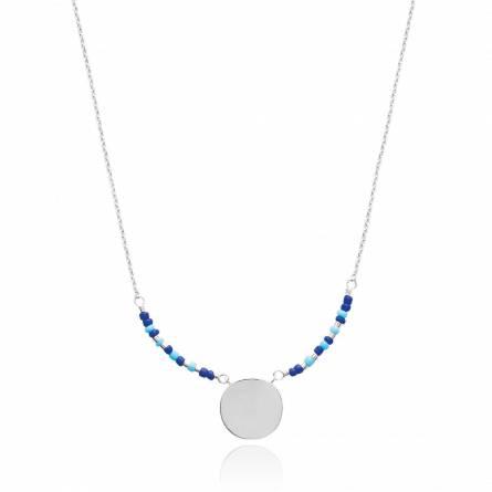 Halsketten frauen silber Adrienne blau