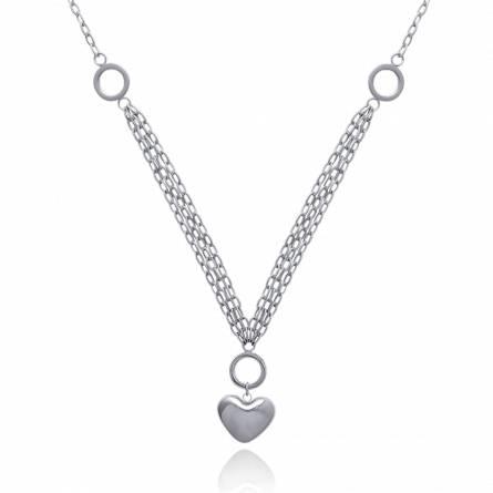 Halsketten frauen stahl Rivière d'Amour herz