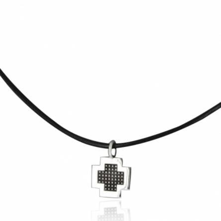 Halsketten herren leder Pixelisée