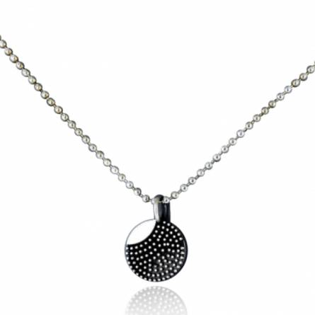 Halsketten herren silber Minimaliste pixellise