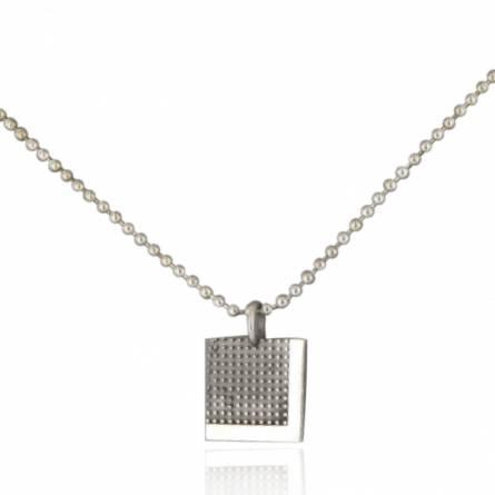 Halsketten herren silber Pixelisée