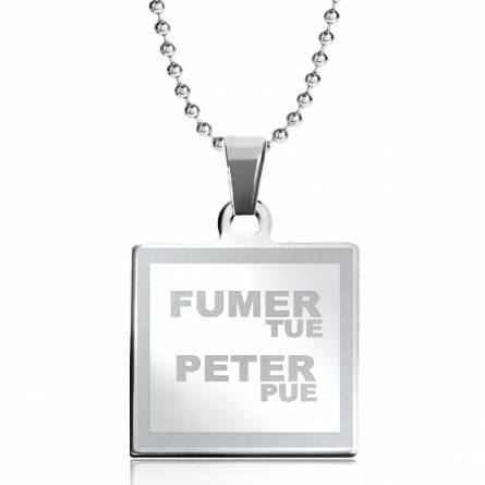 Halsketten herren stahl Fumer tue Peter Pue quadratich