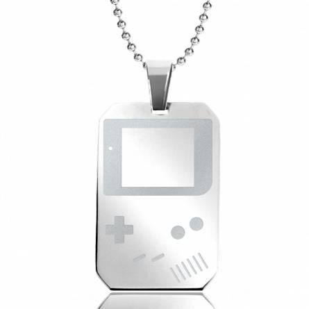 Halsketten herren stahl  Game Boy  rechteck kugelkette