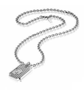Halsketten herren stahl Klaus grau