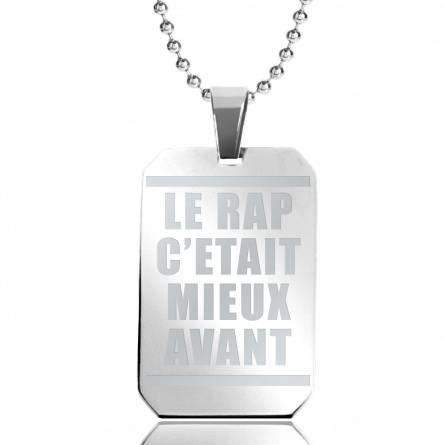 Halsketten herren stahl Le Rap rechteck