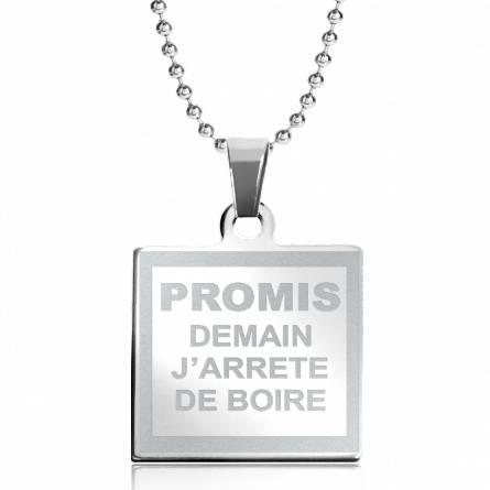 Halsketten herren stahl Promis j arrête .. quadratich