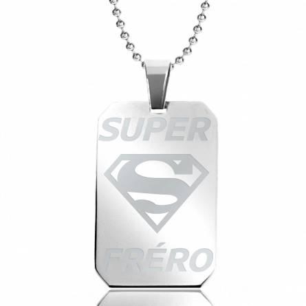 Halsketten herren stahl Super Fréro rechteck kugelkette