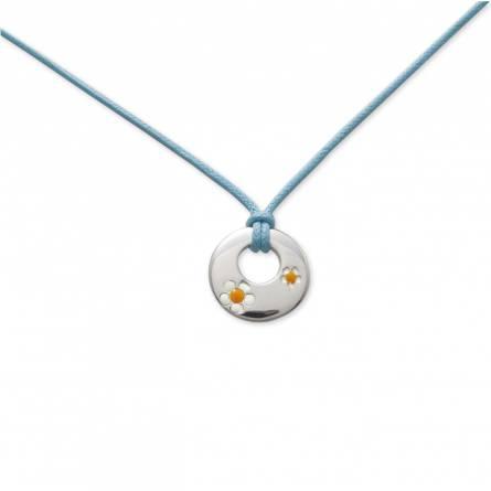 Halsketten kind baumwolle Nature miniature blau