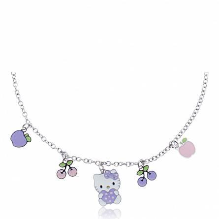 Halsketten kind stahl Fruity violett
