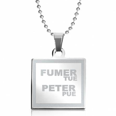 Halsketten stahl Fumer tue Peter Pue quadratich