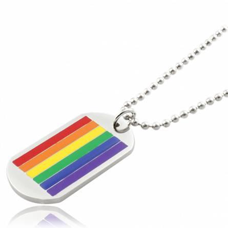 Halsketten stahl Rainbow  bunt