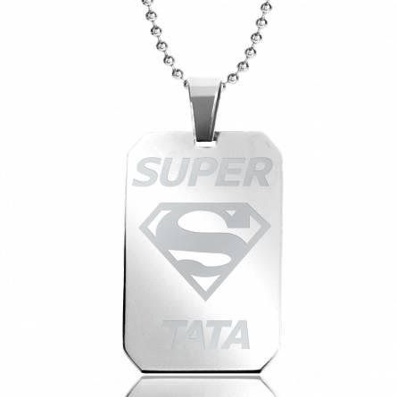 Halsketten stahl Super Tata rechteck kugelkette