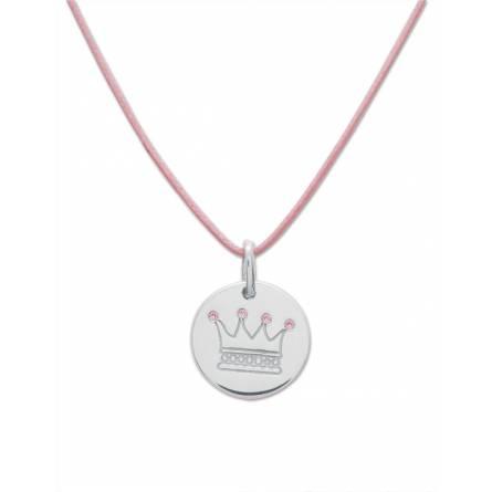 Halskettingen kind katoen Couronne roze