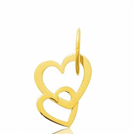 Hangers dames goud Duo  harten geel
