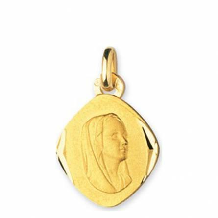 Hangers dames goud Vierge Marie Losange medaillon