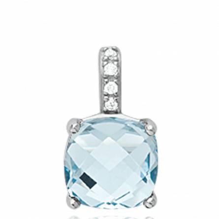 Hangers dames zilver Benedetta turquoise