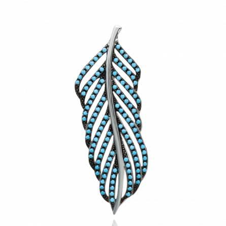 Hangers dames zilver Bergliot turquoise