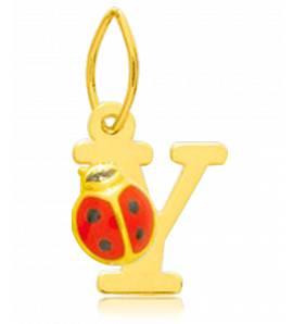 Hangers kind goud Moderne letters geel