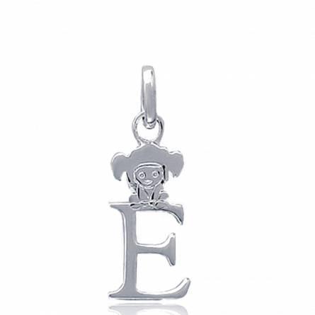 Hangers kind zilver  E lutin letters