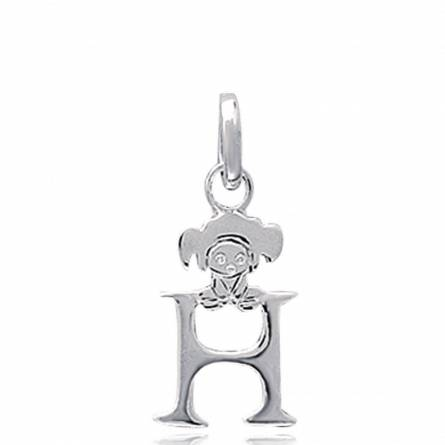 Hangers kind zilver H lutin letters