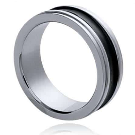 Inel barbati oțel Symbolique negru