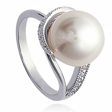Inel femei argint Perlée