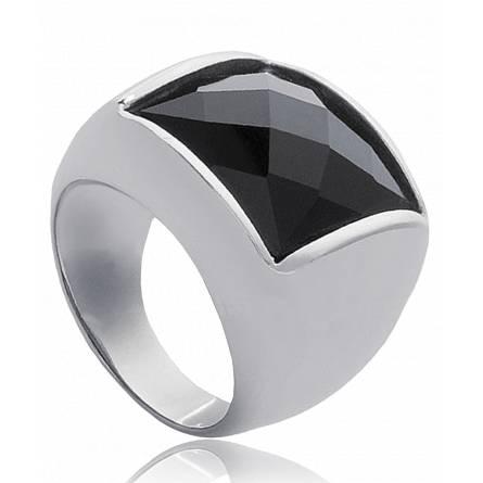 Inel femei oțel Constellation negru