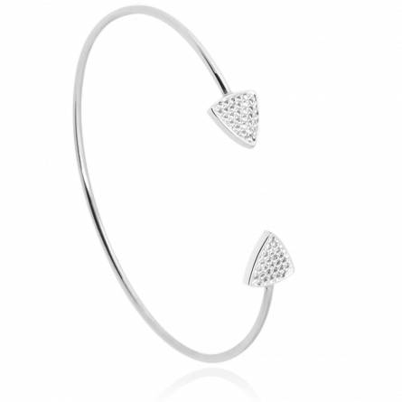 Jonc femme argent Onevia triangle