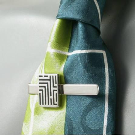 Krawattenhalter herren silber Graphique  schwarz