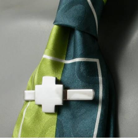 Krawattenhalter herren silber Monacale  grau