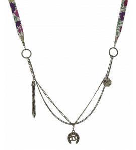 lange Halskette frauen Chance violett