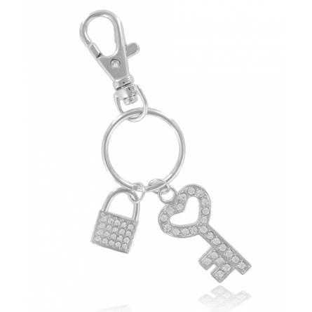 Llaveros mujer metal plateado  Cadenas clave
