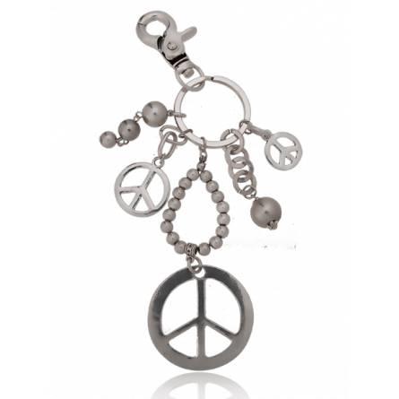 Llaveros mujer metal plateado  Symbole de paix