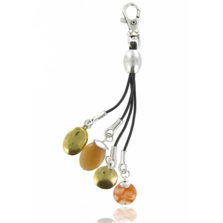 Llaveros mujer piedra Aristofanes naranja