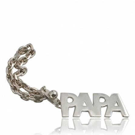 Llaveros mujer plata Papa