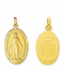 Médaillon Or Vierge Marie La miraculeuse
