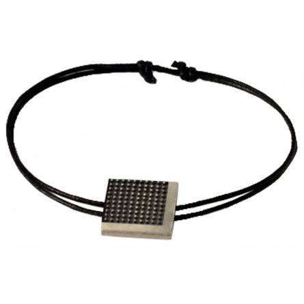 Man cotton Minimaliste  black bracelet