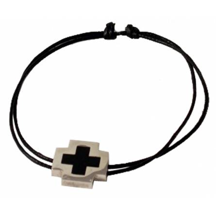 Man cotton Pacôme black bracelet