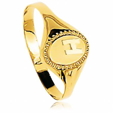 Man gold Collerette  ring